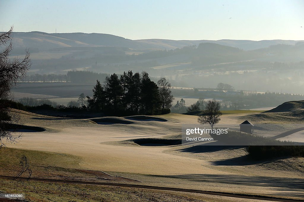 The par 4, seventh hole on the PGA Centenary Course at the Gleneagles Hotel venue for the 2014 Ryder Cup Matches on February 27, 2013 in Auchterarder, Scotland.