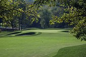 The par 5 2nd hole at Valhalla Golf Club venue for the 2008 Ryder Cup Matches on October 2 2007 in Louisville Kentucky