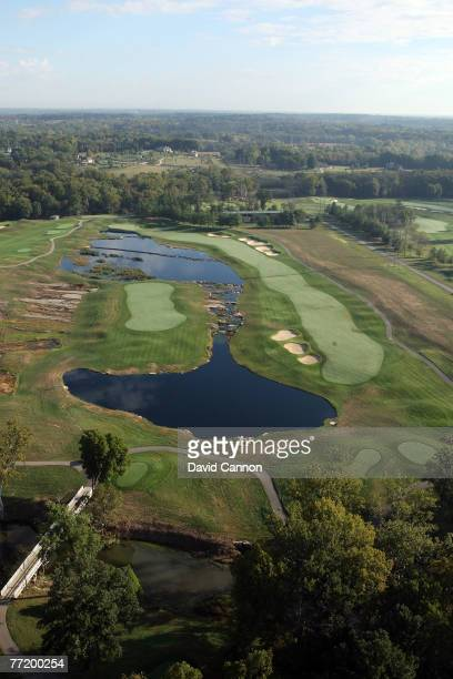 The par 5 7th hole at Valhalla Golf Club venue for the 2008 Ryder Cup Matches on October 4 2007 in Louisville Kentucky