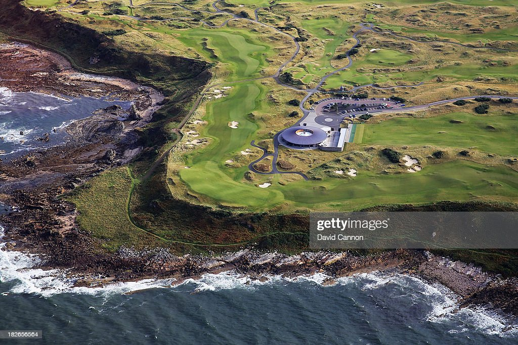 The par 518th hole with it's shared green of the par 4 9th hole on the Castle Course at St Andrews on September 25 2013 in St Andrews Scotland