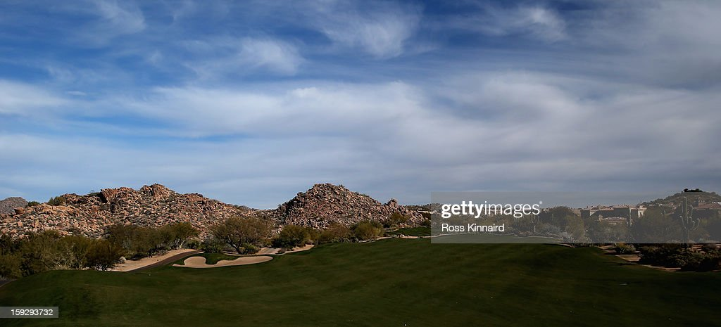 The par five 11th hole on the Pinnacle Course at the Troon North Golf Club, Scottsdale on January 6, 2013 in Scottsdale, Arizona.