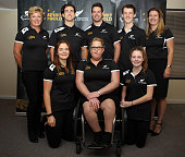 The ParaAthletics New Zealand team and management team of Raylene Bates Liam Malone Rory McSweeney William Stedman Fiona Allan and Holly Robinson...