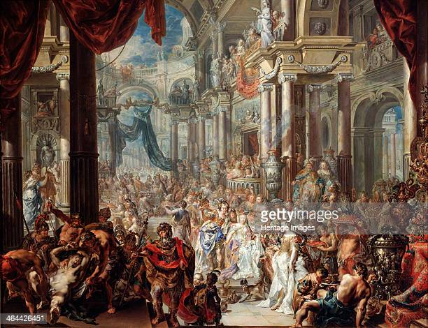 The Parable of the Wedding Feast' 1737 Platzer Johann Georg Found in the collection of the State A Pushkin Museum of Fine Arts Moscow