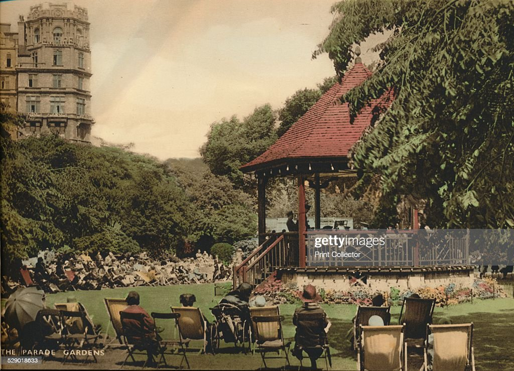 The Parade Gardens Bath Somerset c1925 In the distance we see The Empire Hotel which was built in 1901 by architect Charles Edward Davis From 'Bath...