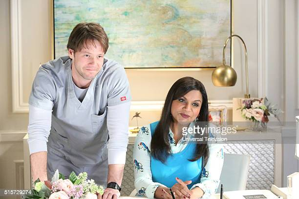 PROJECT 'The Parent Trap' Episode 412 Pictured Ike Barinholtz as Morgan Tookers Mindy Kaling as Mindy Lahiri