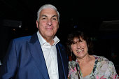 The parents of Amy Winehouse Mitch Winehouse and Janis Winehouse pose backstage at Mitch Winehouse's album launch party at Pizza Express Jazz Club...
