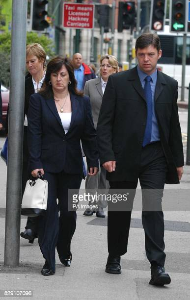 The parents of murdered schoolboy Luke Walmsley Mr Paul Walmsley and Jayne Walmsley arrive at Nottingham Crown Court with the jury expected to be...