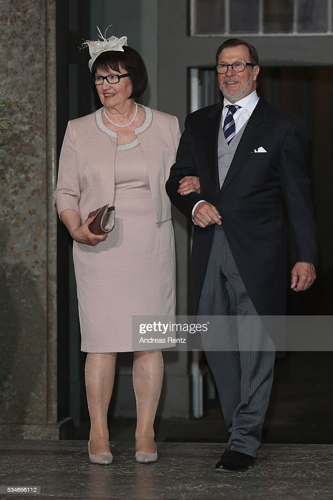 The parents of Prince Daniel are seen after the christening of Prince Oscar of Sweden at Royal Palace of Stockholm on May 27, 2016 in Stockholm, Sweden.