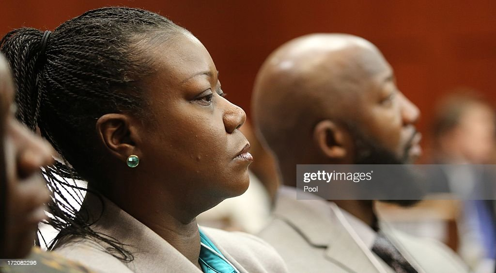 The parents of Trayvon Martin, Sybrina Fulton and Tracy Martin, listen to the statement given by George Zimmerman to Sanford police on the night of the Trayvon Martin shooting , during the Zimmerman trial in Seminole circuit court July 1, 2013 in Sanford, Florida. Zimmerman is charged with second-degree murder for the February 2012 shooting death of 17-year-old Trayvon Martin.