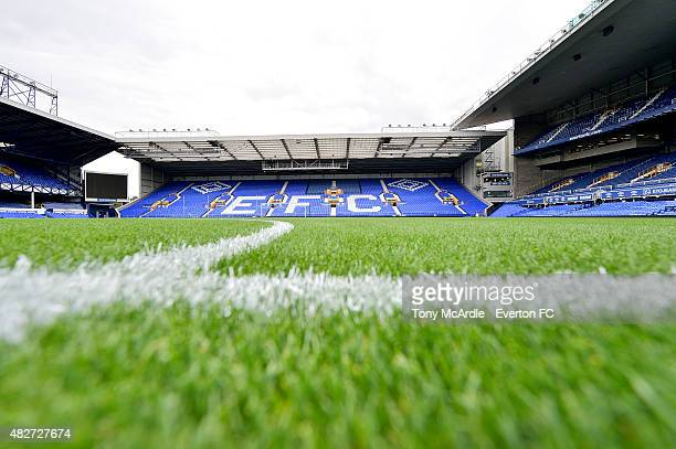The ParkEnd stand of Goodison Park during the preseason match between Everton and Villarreal Duncan Ferguson's Testimonial at Goodison Park on August...