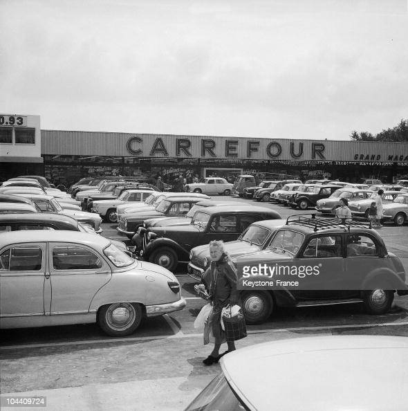 the first carrefour superstore in 1963 pictures getty images. Black Bedroom Furniture Sets. Home Design Ideas