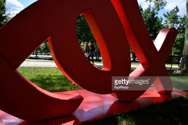 The Parkway100 centennial celebration kicks off at the Benjamin Franklin Parkway in Philadelphia PA on September 8 2017 The scenic boulevard connects...