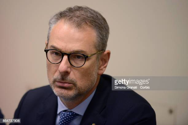 The Parliamentary Commission on the Digitization of Public Administrations meets the President of Consip Roberto Basso on September 27 2017 in Rome...