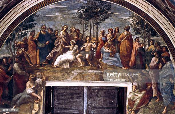 'The Parnassus from the Stanza delle Segnatura' 15101511 Executed between 1508 and 1511 for the notoriously temperamental but adventurous patron of...