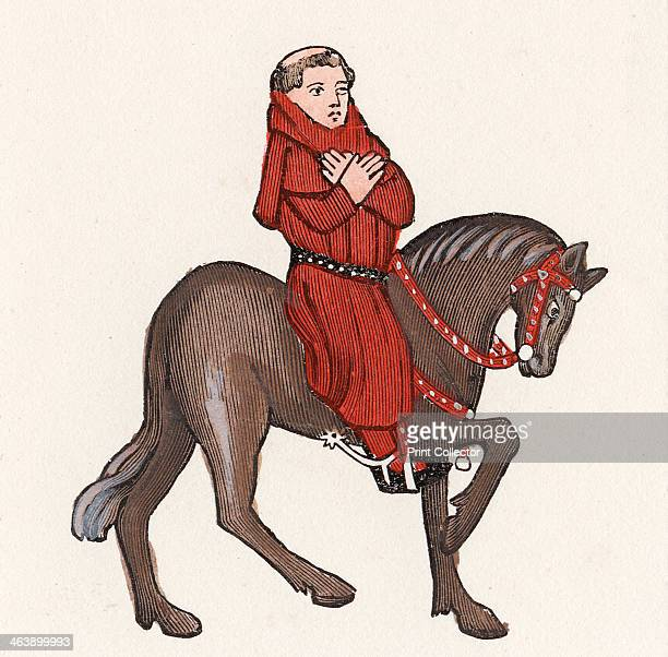 'The Parson' from Geoffrey Chaucer's Canterbury Tales After an illustration in the Ellesmere manuscript of Chaucer's work 14th century