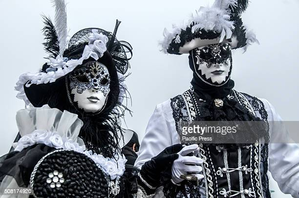 The participants flaunt their masks during the Venice Carnival 2016 Venice Carnival is the oldest and most internationally known celebration in...