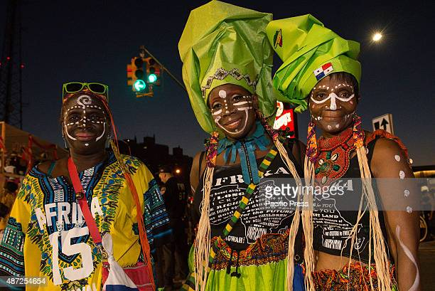 The participants of the West Indian Day Parade wear colorful costumes Thousands of revelers took to the streets of Crown Heights beginning around 300...