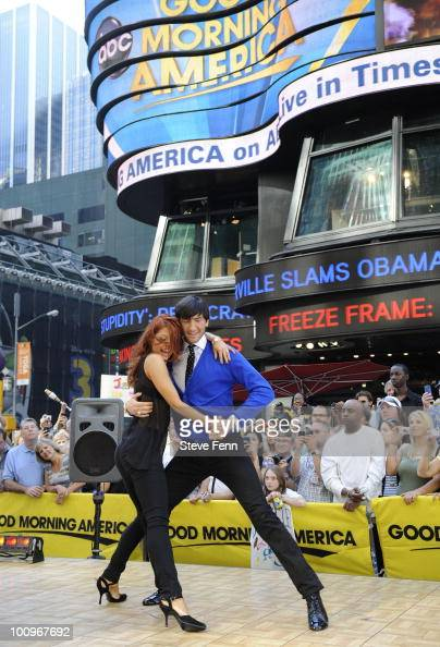 AMERICA The party continues for the finalists in this year's 'Dancing With The Stars' as they take their routines to Times Square in New York for an...