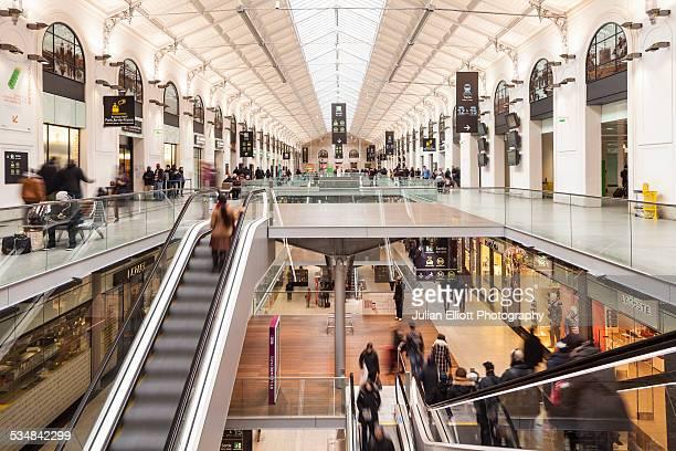 The passenger hall in Gare Saint Lazare in Paris