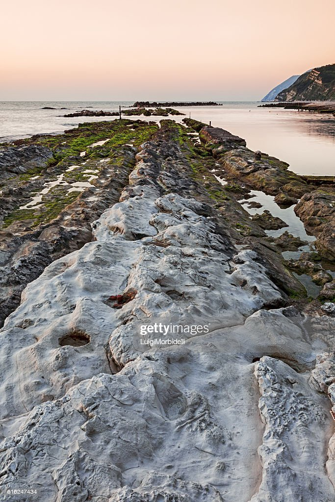 The passetto rocks, Ancona, Italy : Stock Photo