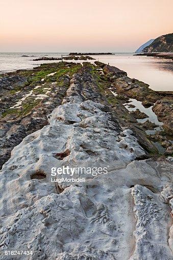 The passetto rocks, Ancona, Italy : Foto de stock