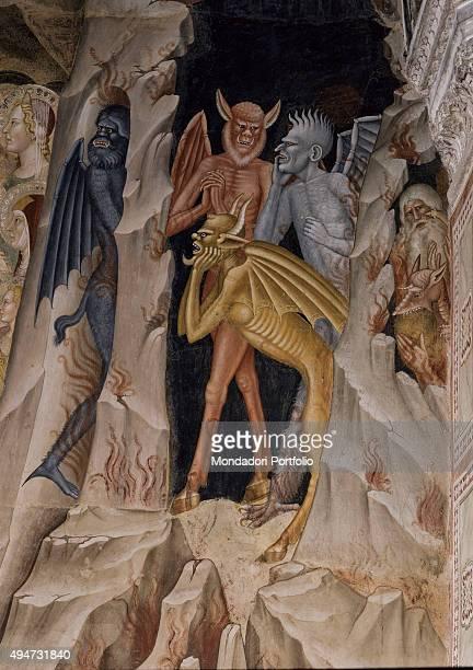 The Passion of Jesus by Andrea di Bonaiuto 13651368 14th Century fresco Italy Tuscany Florence Church of Santa Maria Novella Spanish Chapel Detail...