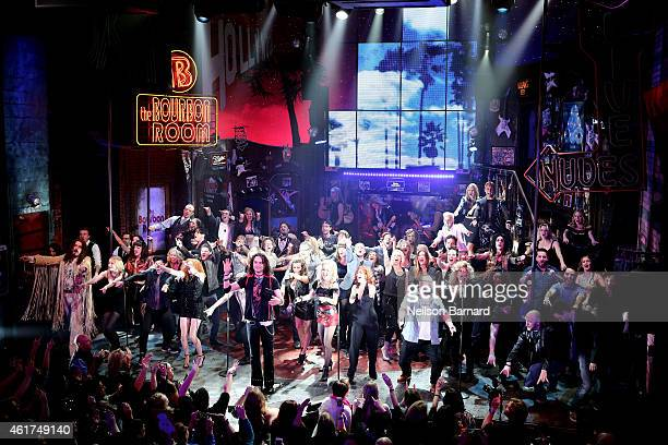 The past and present cast members take to the stage for the final performance of 'Rock Of Ages' on Broadway and enter the history books as the 27th...
