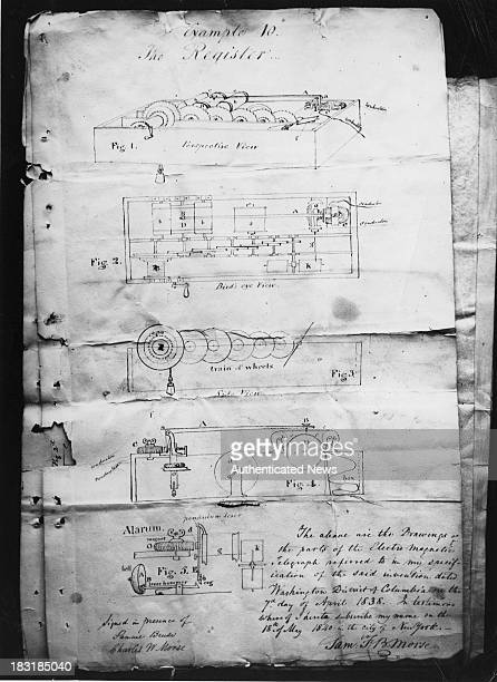 The patent and designs for Samuel Morse's electromagnetic telegraph 18th May 1840