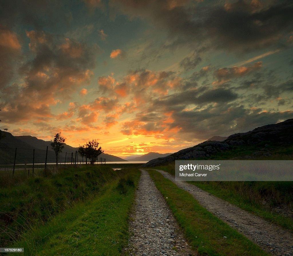 Path To Enlightenment: The Path To Enlightenment Scottish Highlands Stock Photo