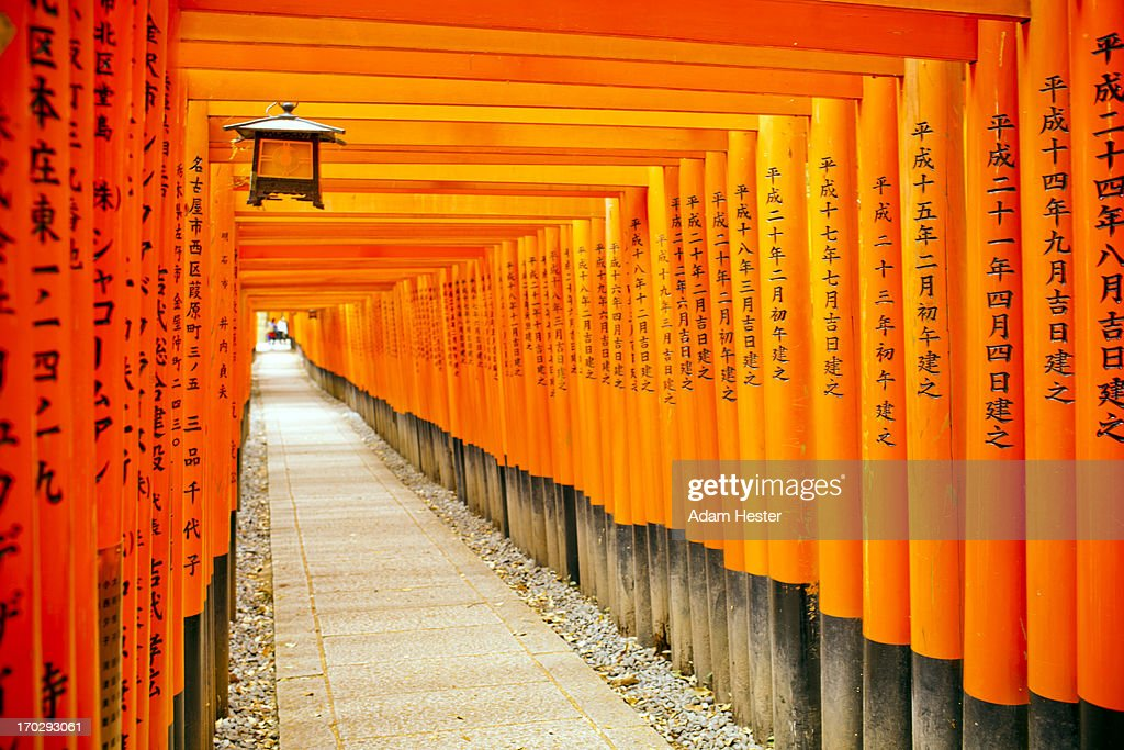 The pathway at the Palace of the Shirnes in Kyoto.