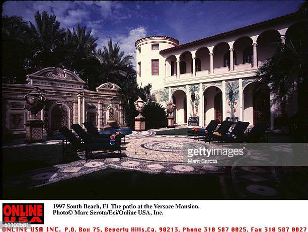 The Patio Area At The Versace Mansion In South Beach
