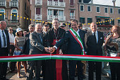 The patriarch of Venice Francesco Moraglia and Major of Venice Luigi Brugnaro at the opening for the Redentore Celebrations on July 16 2016 in Venice...
