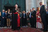 The patriarch of Venice Francesco Moraglia speaks at the opening for the Redentore Celebrations on July 16 2016 in Venice Italy Redentore which is in...