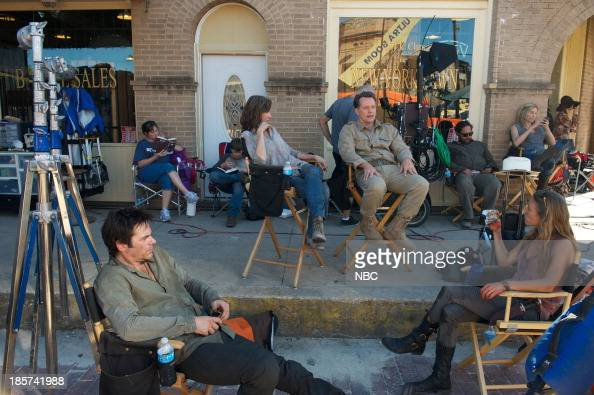 REVOLUTION 'The Patriot Act' Episode 207 Pictured Billy Burke as Miles Matheson Jessica Collins as Cynthia Steven Culp as Edward Truman Zak Orth as...