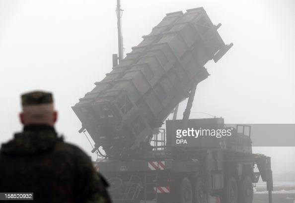 The 'Patriot' air defense missile system is presented on December 18 2012 in Warbelow northern Germany at a media day of air defense missile groups...