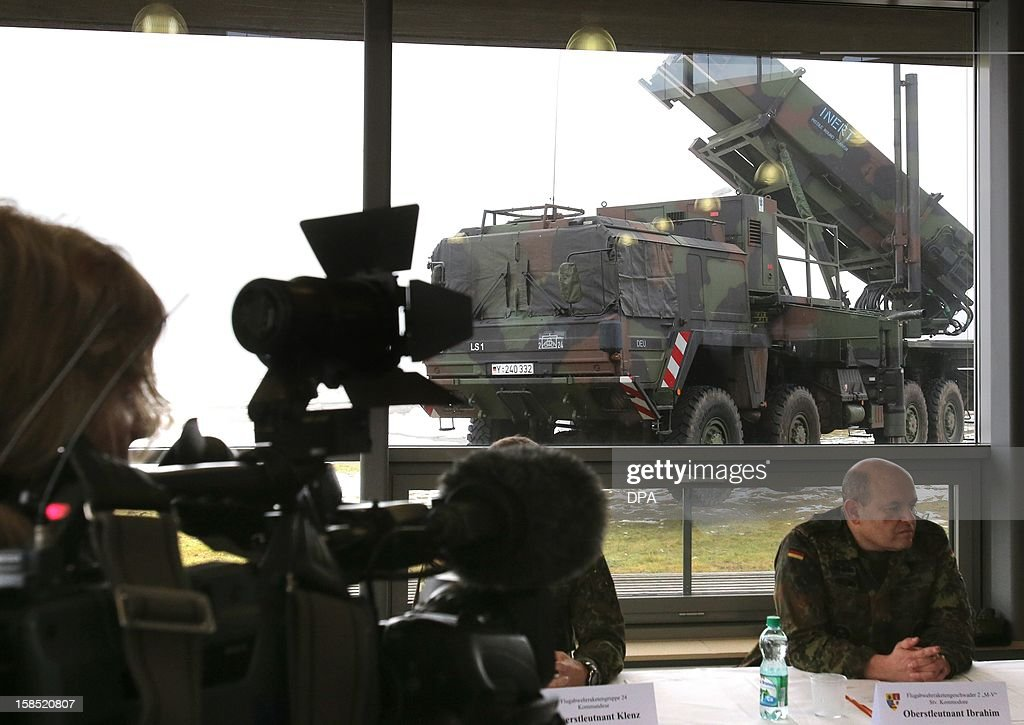 The 'Patriot' surface-to-air missile system is presented during a media day by the German Armed Forces in Warbelow, northern Germany, on December 18, 2012. According to a decision by the German Bundestag, the German Armed Forces' 'Patriot' system will be used in Turkey to protect the NATO allies from Syrian attacks.