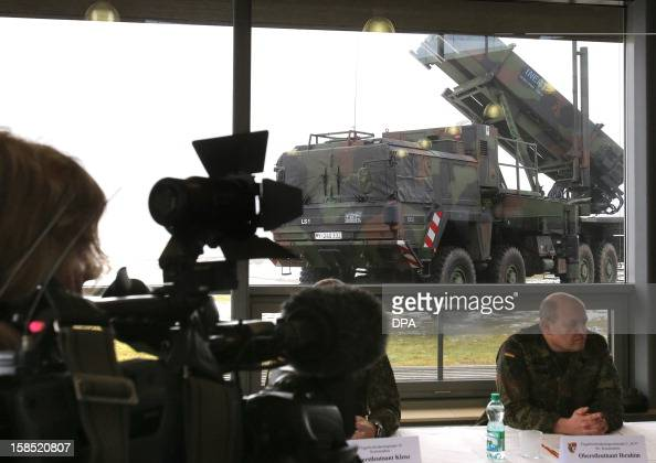The 'Patriot' surfacetoair missile system is presented during a media day by the German Armed Forces in Warbelow northern Germany on December 18 2012...