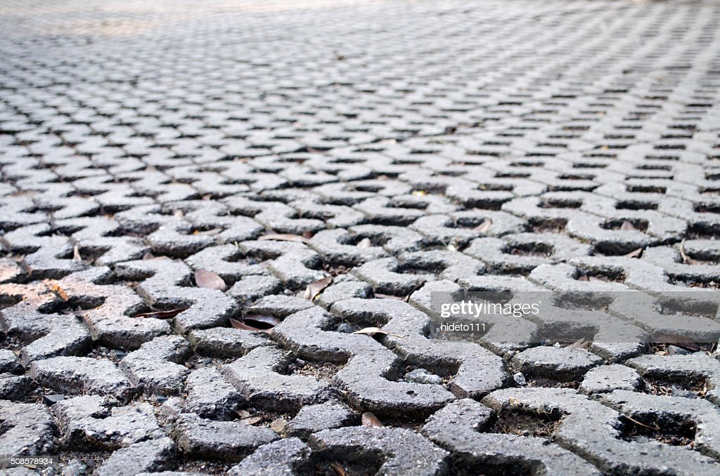 The pattern of stone block paving : Stock Photo