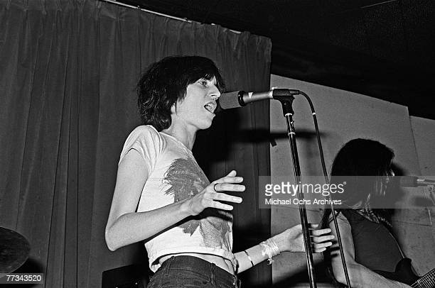 The Patti Smith Group perform in November 1974 at the Whisky a Go Go in Los Angeles California