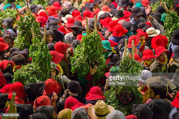 The Patum de Berga a middle age preChristian celebration on the Berga main square in the Catalan Pyrenees Masterpiece of the Oral and Intangible...