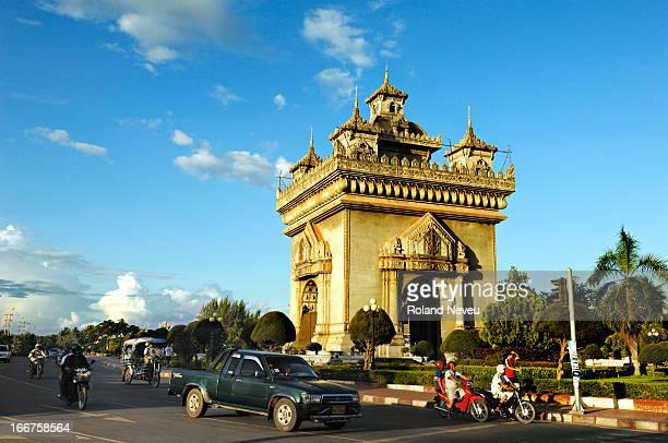 The Patuxay a landmark of the capital
