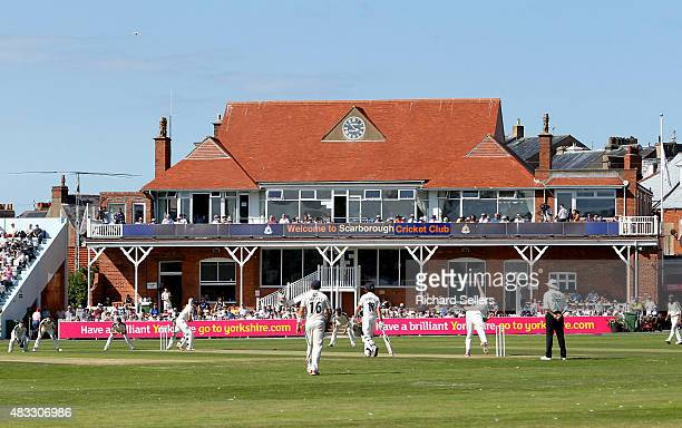 The pavillion soaked in sunshine at North Marine Road during day one of the LV County Championship division one match between Yorkshire and Durham at...