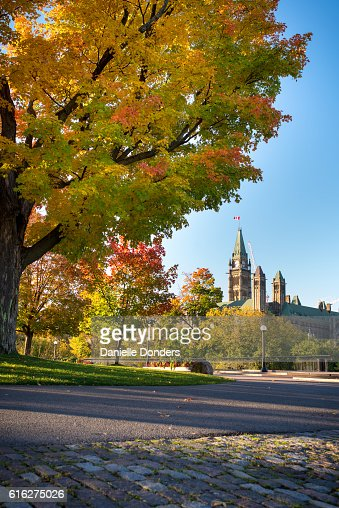 The Peace Tower and Parliament Buldings in Autumn : Stock Photo