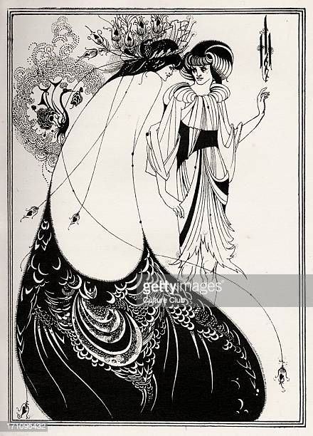 ' The Peacock Skirt ' Aubrey Beardsley 's illustration 1920 for ' Salome ' by Oscar Wilde first performed in England on 10 May 1905 Richard Strauss...