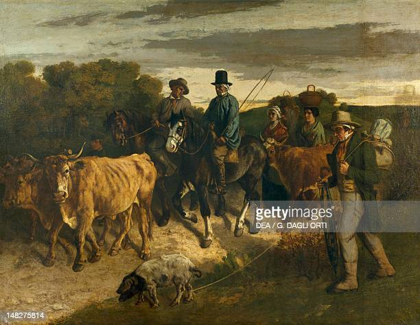 The peasants of Flagey returning from the fair by Gustave Courbet Besançon Musée Des BeauxArt Et D'Archéologie