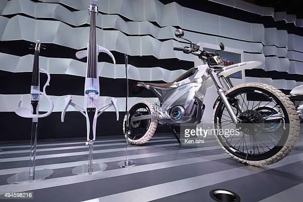 The PED2 is displayed at the Yamaha Motor Co LTD booth during the Tokyo Motor Show 2015 at Tokyo Big Sight on October 28 2015 in Tokyo Japan