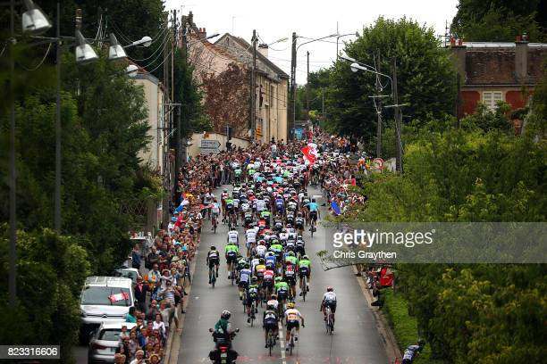 The Peleton ride during stage twenty one of Le Tour de France 2017 on July 23 2017 in Paris France