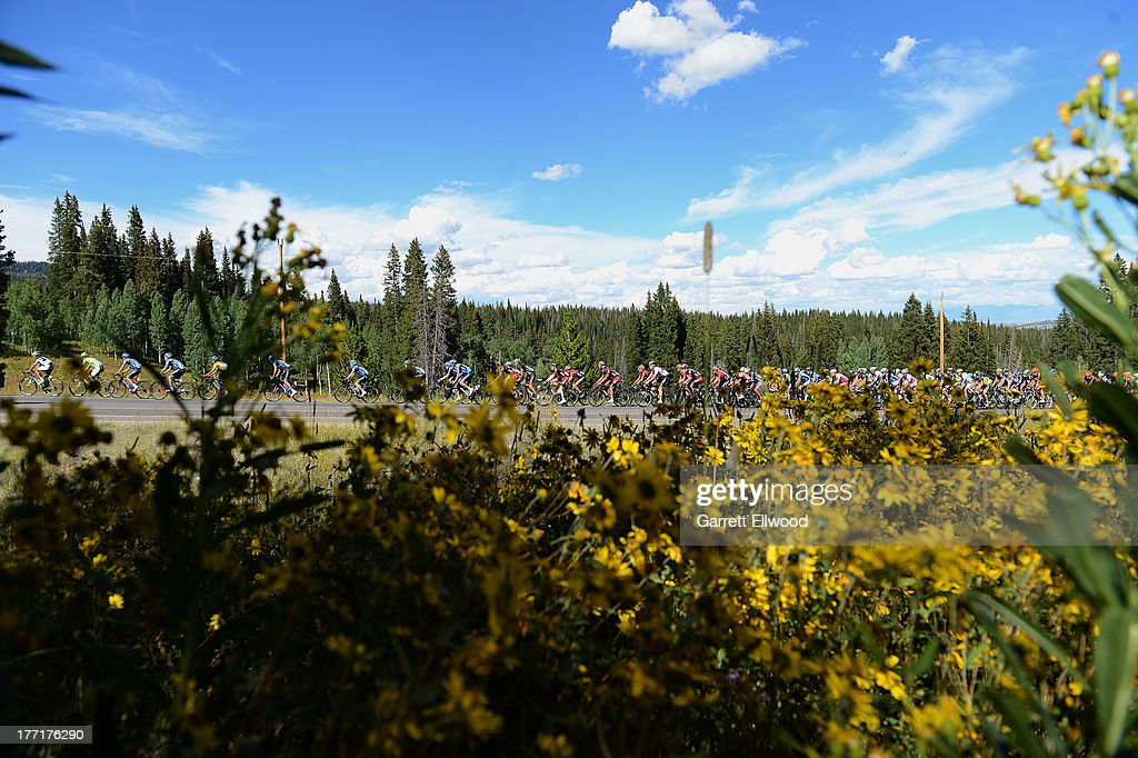 The peloton climbs Rabbit Ears Pass on route to Steamboat Springs during Stage Three of the USA Pro Cycling Challenge on August 21, 2013 in Steamboat Springs, Colorado.