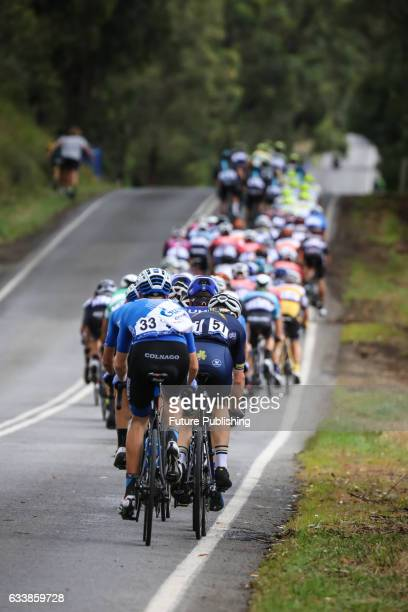 The peloton on lap 3 of stage 4 at Kinglake as part of the 2017 Jayco Herald Sun Tour on February 05 2017 in Melbourne Australia Chris Putnam /...