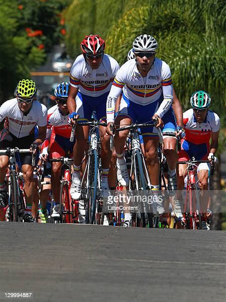 The peloton rides in the Men's Road Race during the 2011 XVI Pan American Games at Guadalajara Circuit and Route on October 22 2011 in Guadalajara...